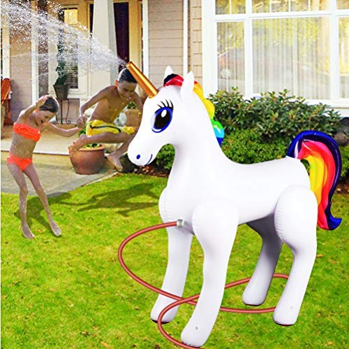 Giant Inflatable Sprinkler Unicorn for Outdoors Yard Lawn for Kids and Adults 6 Ft High