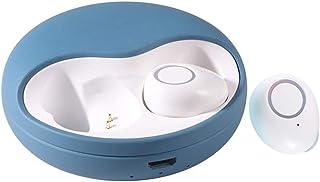 TISHITA Bluetooth 5.0 Mini 3D stereohörlurar vattentäta hörlurar med brusreducering – mörkblå