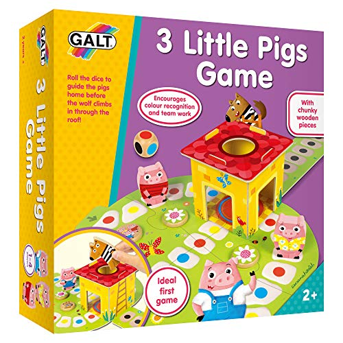 Galt Toys, 3 Little Pigs Game, Board Game for Young Kids, Ages 2 Years...