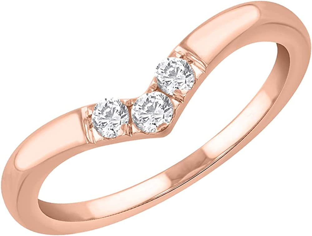 0.15 Carat Diamond Wedding Anniversary Ring in 14K Gold