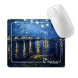 allsas Tappetino Mouse Stampa Van Gogh Notte Stellata sul Rodano