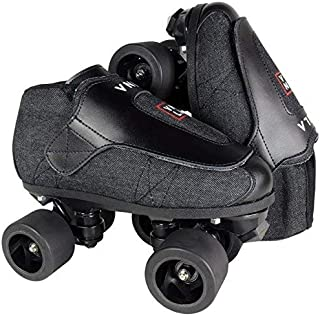 VNLA Stealth Jam Skate Mens & Womens Skates - Roller Skates for Women & Men - Adjustable Roller Skate/Rollerskates - Outdoor & Indoor Adult Skate - Kid/Kids Skates (Grey/Black)