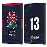 Head Case Designs sous Licence Officielle England Rugby Union Position 13 2020/21 Joueurs Away Kit Coque en Cuir à Portefeuille Compatible avec Amazon Kindle Fire HDX 8.9