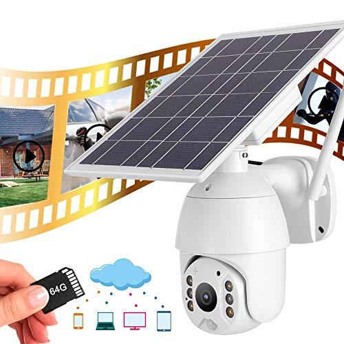 Intelligente camera voor zonne-energie met tweewegs spraakintercom, draadloze camera met realtime bewaking, waterdichte nachtzichtcamera, ondersteuning voor alarmopname, buiten-/binnencamera