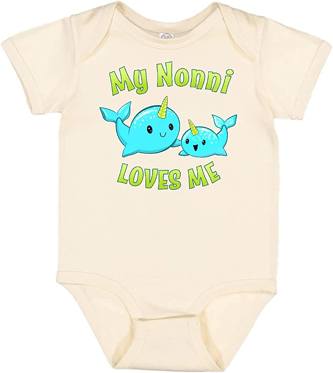 inktastic My Nonni Surprise price Loves shopping Me- Narwhal Cute Infant Creeper