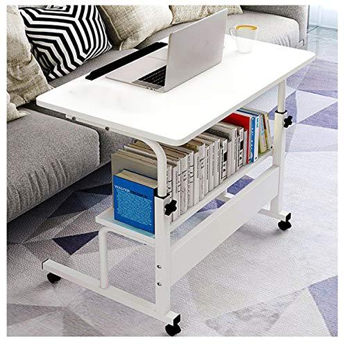 LYLSXY Mesa Auxiliar para sofá móvil, Soporte Ajustable en Altura, Escritorio de computadora para sofá Cama, enfermería, Lectura (Color : White)