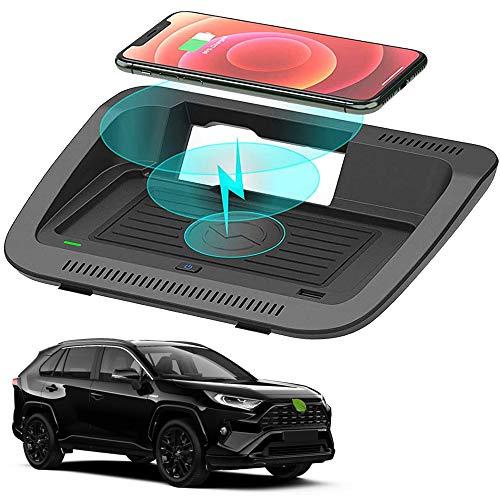 Cargador Inalámbrico Coche para Toyota RAV4 2019 2020 2021 Panel de Accesorios de la Consola Central 10W Carga Rápida Stile OEM Teléfono Cargador para iPhone 12/11/XS/XR/X Samsung S20/S10/S9