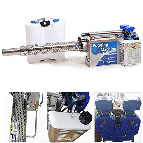 SXPC Máquina De Niebla Térmica De 16 L De Pulso, Pulverizador De Mochila, Pulverizador De Neblina De Agua, Alimentado con Gasolina Adecuado para Lugares Públicos con Plantas De Malezas