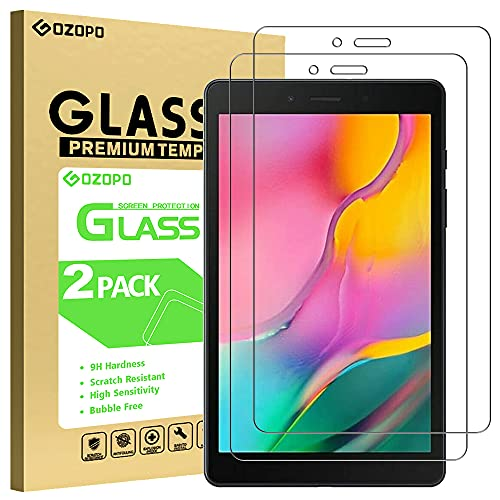 GOZOPO - Pellicola proteggi schermo per Samsung Galaxy Tab A 8.0 2019 SM-T290 T295 [resistente ai graffi] Galaxy Tab A 8  2019 pellicola in vetro temperato – confezione da 2