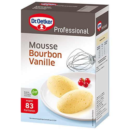Dr. Oetker Professional Mousse Bourbon Vanille, Dessertpulver in 1 kg Packung