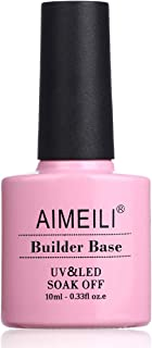 AIMEILI Gel Uñas Constructor Base Coat y Builder Gel 2 en 1 Nail Extensión Esmaltes Semipermanentes de Uñas Gel Construcci...