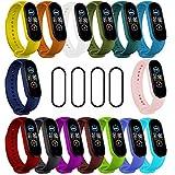 IMBZBK [19-Pièces] 15 Pièces Bracelet pour Xiaomi Mi Band 5 + 4 Pièces TPU Protection écran pour...