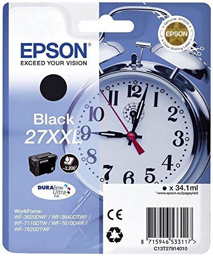 Epson DURABrite Ultra 27XXL Cartuccia di Inchiostro, Nero Sveglia, RF, AM
