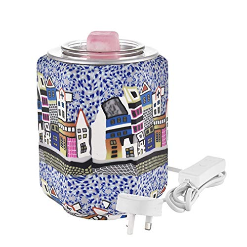 Quemador aceite eléctrico, Scentsy Plug in Wax Melt Set de regalo con quemador 3D Hexagon House Sleep Difussers Aroma Lámpara eléctrica Luz nocturna Decoración Ambientador para el hogar (Reino Unido)