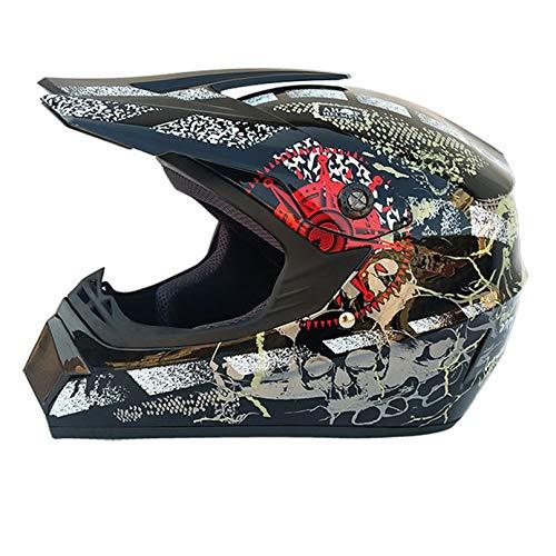 Casco de Motocicleta para Hombre, Casco de Motocross Todoterreno, Casco de Moto, Casco de Carreras, Casco de Carreras