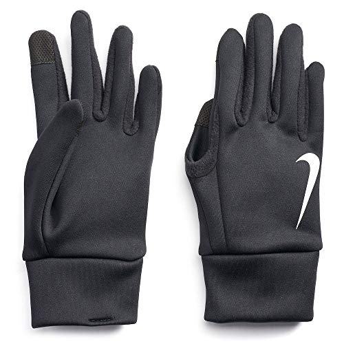 Nike Mens Thermal Therma Fit Fabric Touch Screen Capability Gloves (Large, Black)