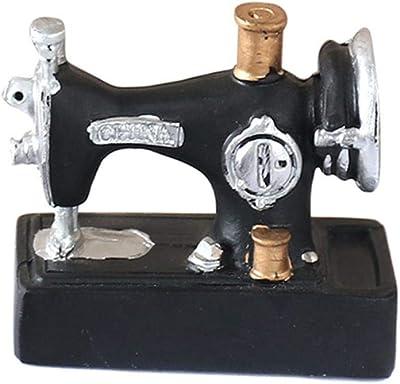 THREE Hot Mini máquina de Coser Adornos de Resina Vintage Decor ...