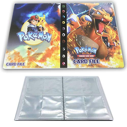 Card Holder Compatible with Pokemon Cards, Card Album, Binder Cards Album Book Best Protection Trading Cards Put up to 240 Cards, Charizard