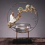 Escultura Adornos Zen Resina Habitaciones en D 'Sala de Estudio de Estar Decorada con Piezas móviles Nuevo hogar Regalo Retro Craft Acuario Suave Grande