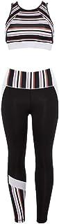 Beiziml Striped Female Sport Suit Women Fitness Clothing Sport Wear Yoga Set Gym Jogging Suits Sportswear Running Leggings...