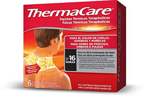 THERMACARE Parche Térmico Terapéutico - 6 parches -Para El Dolor de Cuello, Hombro y Muñeca - Alivio Prolongado del Dolor Hasta 16 Horas - Sin Medicamentos