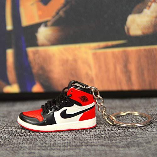 Llavero Jordan AJ con colgante de mujer, diseño de zapatos, E (Rojo) - WHXJ-U75Y6A