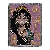 Disney Aladdin, Royal Jasmine Metallic Woven Tapestry Throw Blanket, One Size