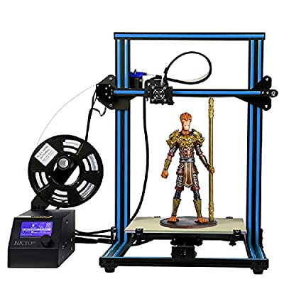 HICTOP Creality Open Source CR-10 3D Printer All Metal Frame 12x12x15.5 Inch Build Volume and Heated Bed Includes Glass Bed