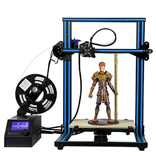 HICTOP 12V Reprap Prusa I3 3D Impresora Aluminio Marco DIY Kit Large Print Size CR-10