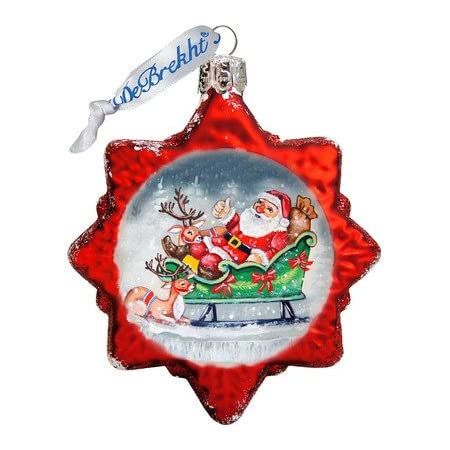 Amazon Com G Debrekht Mary Of Guadalupe Glass Ornament Home Kitchen