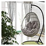 ZHANGYN Hanging Basket Hanging Egg Chair Cushions Swing Hanging Chair Seat Cushion Hanging Egg Hammock Chair Pads Waterproof Thicken Nest Hanging Chair Back for Patio Garden, 86 x 120cm Home Decor