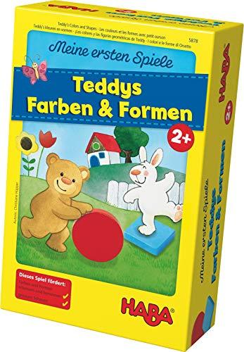 Haba 5878 - Meine ersten Spiele Teddys Farben und Formen, Legespielsammlung für 1-4 Kinder ab 2 Jahren, zum Lernen von Farben und Formen