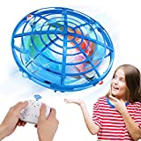 UFO Drones for Kids with Gamepad Remote Control, Updated RC Hand Operated Mini Drone, Flying Toys, USB Rechargeable Flying Ball with RGB LED Outdoor and Indoor, Gift for Kids Toddlers Boys and Girls