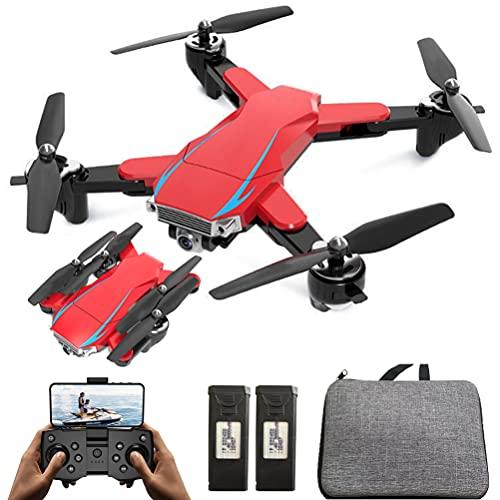 ANAN Drone Pieghevole GPS con Doppia Fotocamera 6K per Adulti, RC Drone con Doppia Fotocamera, Volo 50 Minuti con 2 batterie, Doppia Fotocamera, Segui automaticamente, Volo di traiettoria