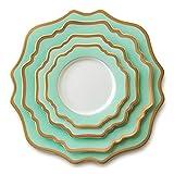 Piatto da cena Bone china Cena Set piatti e stoviglie di lusso in oro intarsio Dinner Plate Charger Fiore Piastra for la casa festa di nozze da tavola Bellissimo