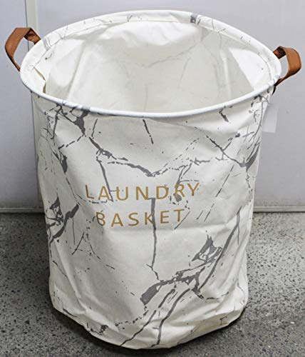 Cesto Para Roupas Sujas Organizador Flexível Laundry Basket Branco Cinza