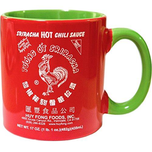 Sriracha2Go keramische vaas met kruidige saus 20 oz (groot) rood en groen