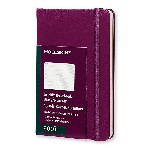 Moleskine 2016 Weekly Notebook, 12M, Pocket, Mauve Purple, Hard Cover (3.5 x 5.5)