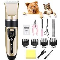 電気USBの再充電可能な毛のトリマーのキットを手入れする専門のペット猫犬のクリッパー