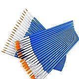 Amacoam 40 Stück Künstlerpinsel Set Acrylpinsel Set Pinselset Malen Nylon