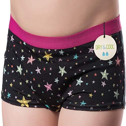 DRY & COOL Tages-Inkontinenzslip für Mädchen | Unterwäsche | Waschbar | Absorbierende Einlage | Stary Night | 170-176 cm (15-16 Jahre)