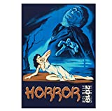 Horror Monster Vintage Trash Movie Posters e Impresiones Art Canvas Painting Home Wall Decor Art Poster Print on canvas-50x70cm Sin Marco