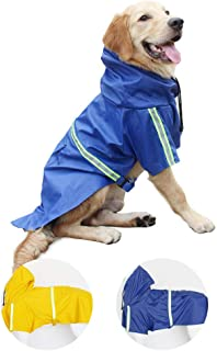 Perro Chubasqueros-Abrigo Impermeable para Perros Ligero con Tira Reflectante para Perros medianos Grandes pequeños (Azul 2XL)