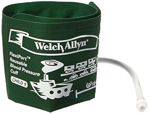 Welch Allyn REUSE-09-1SC FlexiPort Wiederverwendbare Blutdruckmanschetten mit Schraubanschluss – je 1 Stück, Größe 9