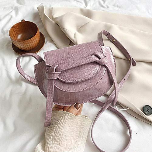 PANZZ Crossbody Sacs Femmes Été Solide Couleur Épaule Sacs À Main Femme Cross Body Bag, Violet, Mini