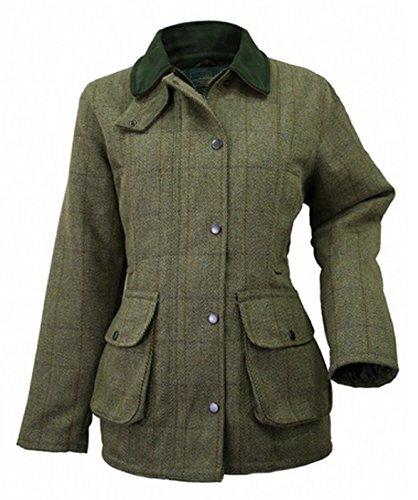 Damen-Schieß-/Jagdjacke, aus Tweed, Farbe: Grünholz Gr. 40, Lavender-Check