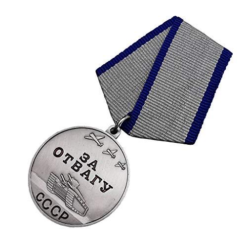 JXS Réplica de Medalla de valentía soviética, Medalla de CCCP de la Segunda Guerra Mundial, Madre de aleación de fundición 1: 1 Producción, Colección de Insignias Militares