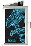 Buckle Down Buckle-Down Business Card Holder - YU-GI-OH! Blue-Eyes White Dragon Pose Black/Electric