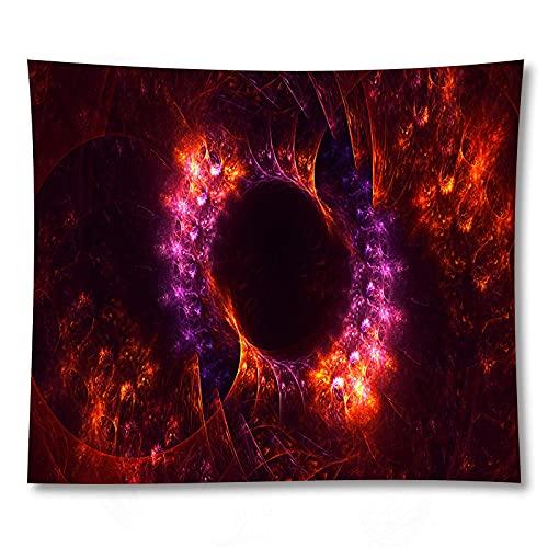 shuimanjinshan Espacio Exterior Planeta Galaxia Imprimir Tapiz Indio Hippie Mandala Colgante de Pared Colcha Bohemia decoración del Dormitorio 150X180Cm