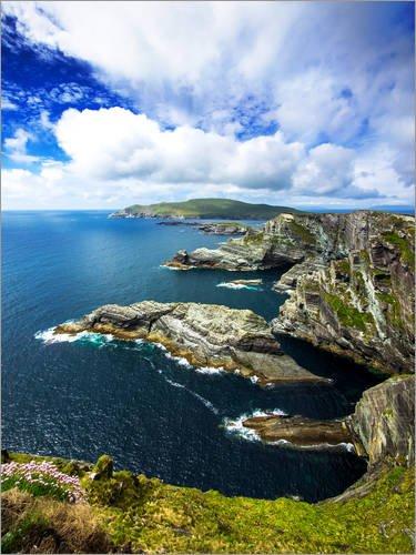 Acrylglasbild 100 x 130 cm: Irlands Küsten von Daniel Heine - Wandbild, Acryl Glasbild, Druck auf Acryl Glas Bild